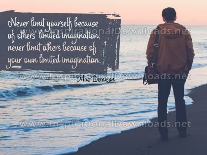 Never Limit Yourself Inspirational Quote Graphic by Mae Jemison