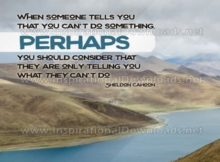 When Someone Tells You Inspirational Quote Graphic by Sheldon Cahoon