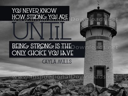 Know How Strong You Are Inspirational Quote Graphic by Cayla Mills