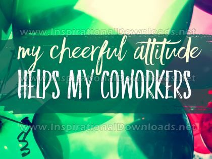 Cheerful Attitude Helps Inspirational Quote Graphic by Inspiring Thoughts