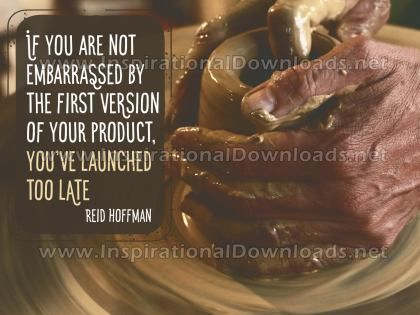 First Version Of Your Product Inspirational Quote Graphic by Reid Hoffman