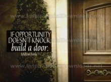 Build A Door Inspirational Quote Graphic by Milton Berle