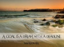 A Goal Is A Dream Inspirational Quote Graphic by Napoleon Hill