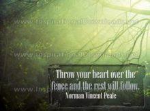 The Rest Will Follow Inspirational Quote Graphic by Norman Vincent Peale