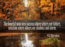 The Hopeful Man Inspirational Quote Graphic by O.S. Marsden