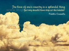 Love Of One's Country Inspirational Quote Graphic by Pablo Casals