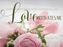Love Motivates Me Inspirational Quote Graphic by Inspiring Thoughts