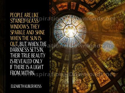 True Beauty Inspirational Quote Graphic by Elizabeth Kubler Ross