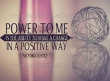 Ability To Make A Change Inspirational Quote Graphic by Victoria Justice