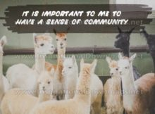 Have A Sense Of Community Inspirational Quote Graphic by Inspiring Thoughts