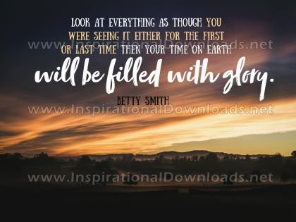 Your Time On Earth Inspirational Quote Graphic by Betty Smith