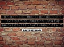 Successful Man Inspirational Quote Graphic by David Brinkley