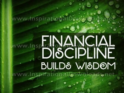 Financial Discipline Inspirational Quote Graphic by Inspiring Thoughts
