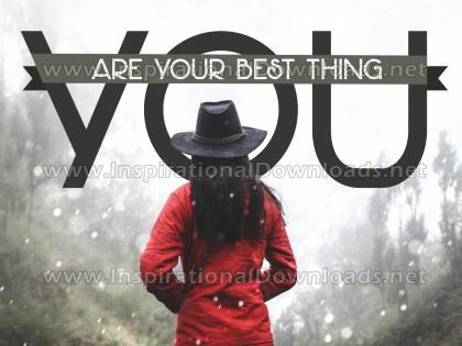 Your Best Thing Inspirational Quote Graphic by Inspiring Thoughts