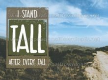 I Stand Tall Inspirational Quote Graphic by Inspiring Thoughts
