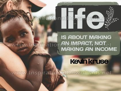 Making An Impact Inspirational Quote Graphic by Kevin Kruse