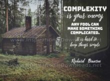 Keep Things Simple Inspirational Quote Graphic by Richard Branson