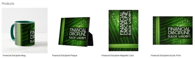 Financial Discipline Inspirational Quote Graphic Customized Products