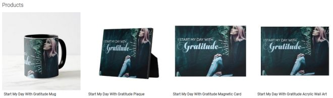 Start My Day With Gratitude Inspirational Quote Graphic Customized Products