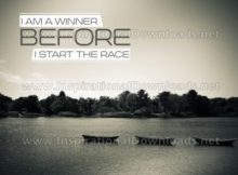 Before I Start The Race Inspirational Quote Graphic