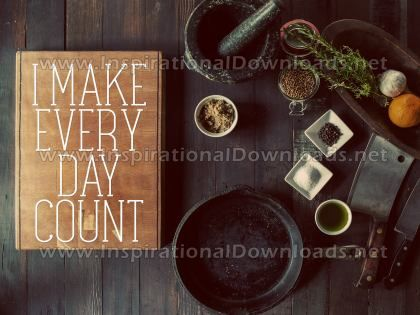Make Everyday Count Inspirational Quote Graphic