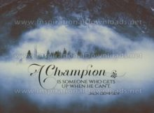 A Champion Inspirational Quote Graphic by Jack Dempsey