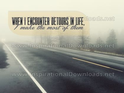 Detours In Life Inspirational Quote Graphic by Inspiring Thoughts