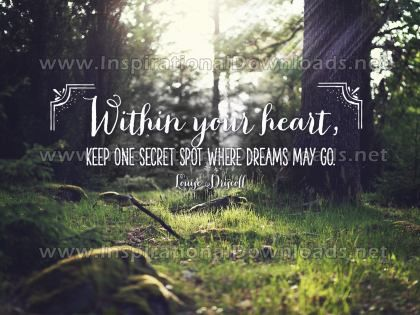 Where Dreams May Go Inspirational Quote Graphic by Louise Driscoll