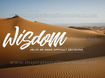 Make Difficult Decisions Inspirational Quote Graphic by Inspiring Thoughts