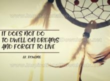 Forget To Live Inspirational Quote Graphic by J.K. Rowling