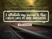 Attribute My Success Inspirational Quote Graphic by Florence Nightingale