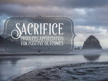 Appreciation For Positive Outcomes Inspirational Quote Graphic by Inspiring Thoughts
