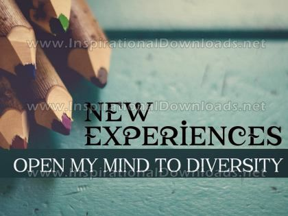 New Experiences Inspirational Quote Graphic by Inspiring Thoughts