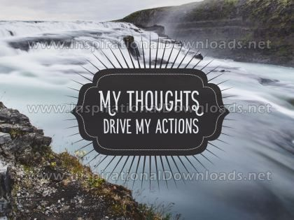 My Thoughts Inspirational Quote Graphic by Inspiring Thoughts