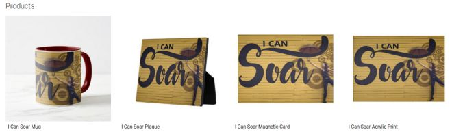 I Can Soar Inspirational Quote Graphic Customized Products