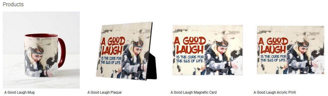 A Good Laugh Inspirational Quote Graphic Customized Products