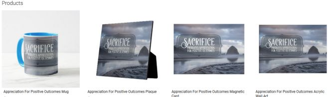 Appreciation For Positive Outcomes Inspirational Quote Graphic Customized Products