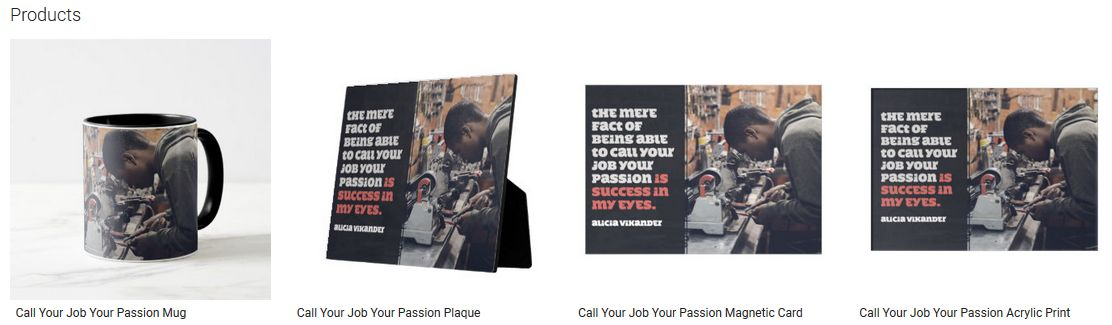 Call Your Job Your Passion Inspirational Quote Graphic Customized Products