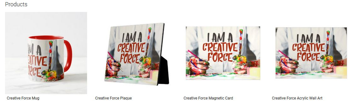 Creative Force Inspirational Quote Graphic Customized Products
