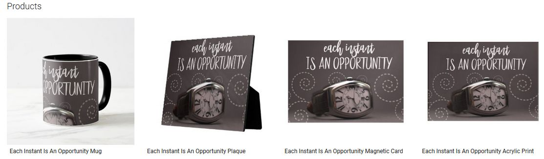 Each Instant Is An Opportunity Inspirational Quote Graphic Customized Products