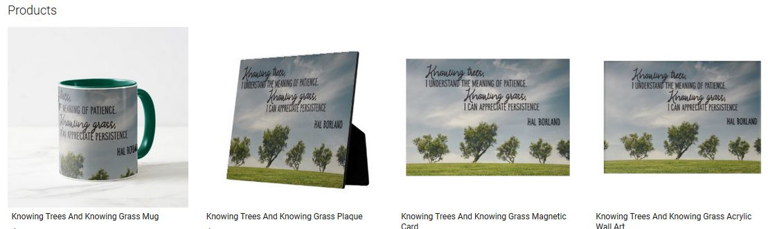 Knowing Trees And Knowing Grass Inspirational Quote Graphic Customized Products