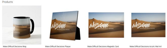 Make Difficult Decisions Inspirational Quote Graphic Customized Products