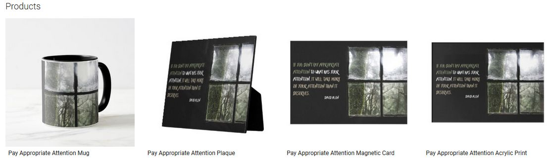 Pay Appropriate Attention Inspirational Quote Graphic Customized Products