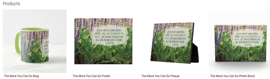 The More You Can Do Inspirational Quote Graphic Customized Products