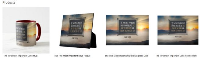 The Two Most Important Days Inspirational Quote Graphic Customized Products
