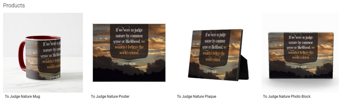 To Judge Nature Inspirational Quote Graphic Customized Products