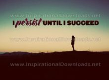 I Persist Until I Succeed Inspirational Quote Graphic