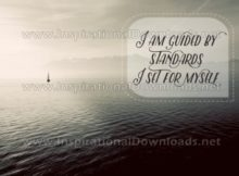 I Am Guided By Standards Inspirational Quote Graphic