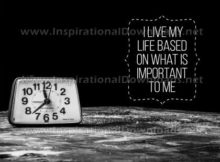 I Live My Life Inspirational Quote Graphic