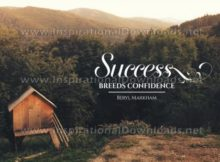 Success Breeds Confidence Inspirational Quote Graphic